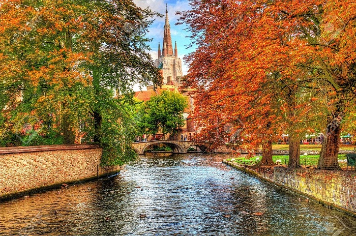 canal-in-bruges-belgium-Stock-Photo-autumn