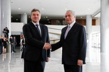 Иванов – Темер: Поттик за стопанската соработка меѓу Македонија и Бразил